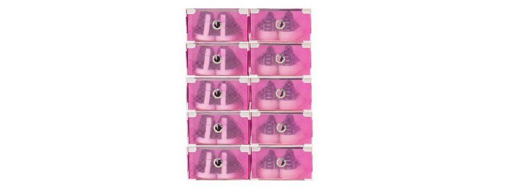 10 Cajitas rosa para guardar zapatos