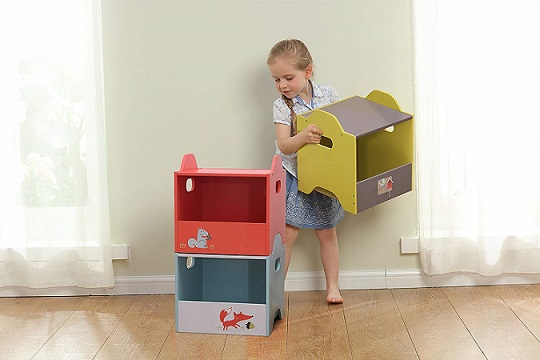 Por qué comprar cajas apilables para guardar juguetes