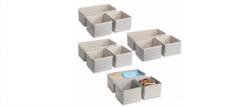 Set 12 cajas plegables de tela