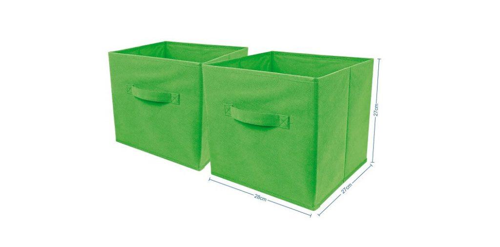 Set 2 cajas de tela plegables